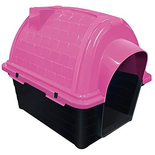 Casinha Plástica Furacão Pet Iglu N.2.0, Rosa Furacão Pet para Cães