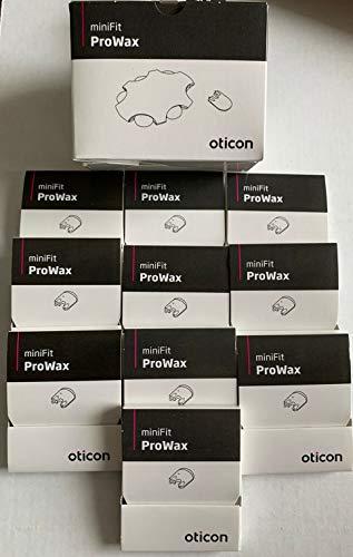 10包MiniFit ProWax过滤器的Oticon Alta 2和Alta Pro 2, Nera,和Ria和较新的接收器在耳朵模型助听器Oticon。(10)