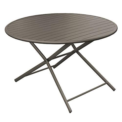 Rendez vous déco Table de Jardin Globe Pliante café 120 cm