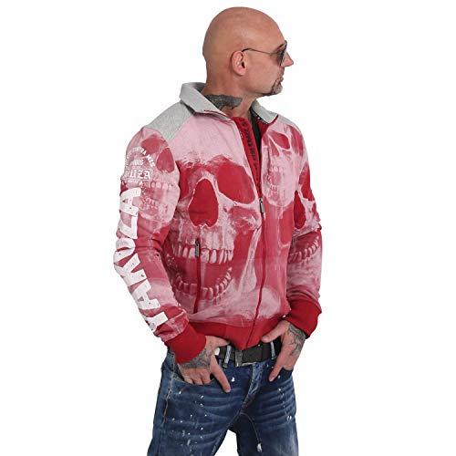 Yakuza Herren Muerte Skull Trainingsjacke Zipper
