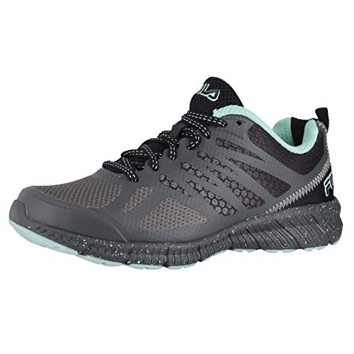 Fila Memory Speedstride TR Women's Sneaker 7 B(M) US Black-Dark Grey-Aqua