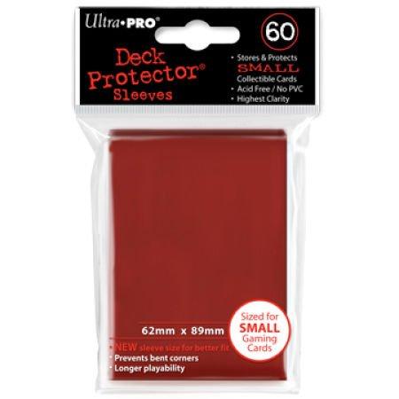 60 Bustine Protettive per Yu-Gi-Oh! Colore Rosso