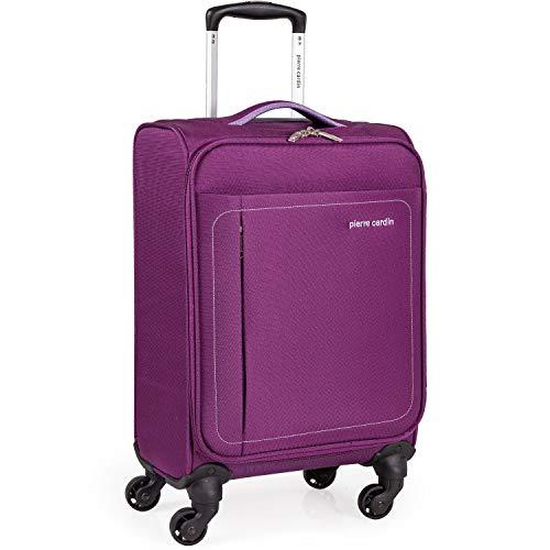 Pierre Cardin CL614 Koffer mit 4 Rädern und 40,6 cm Reisetasche mit Rollen Violett violett Small (4 Spinner Wheels)