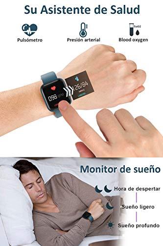 BANLVS Smartwatch, 1.4 Inch Reloj Inteligente IP67 con Pulsómetro Presión Arterial, Monitor de Sueño Podómetro Contador… 7