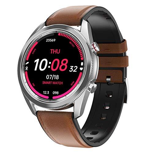 APCHY Reloj Inteligente Smartwatch,Rastreadores De Actividades De Varios Diales para Elegir Beber Agua para Recordar La Calculadora,Pulsera Inteligente De Deportes,Medición De Temperatura,B