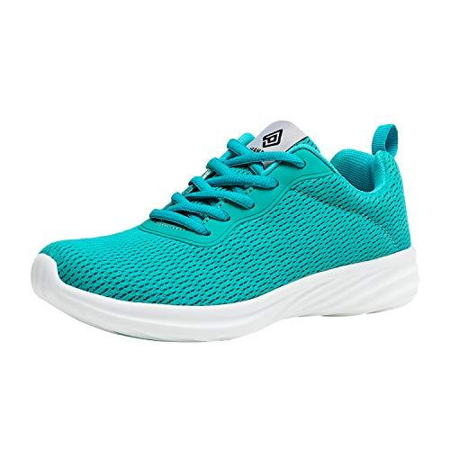 DREAM PAIRS Women's Light Blue Lightweight Walking Sneakers Mesh Tennis Shoes Size 6.5 M US Rider