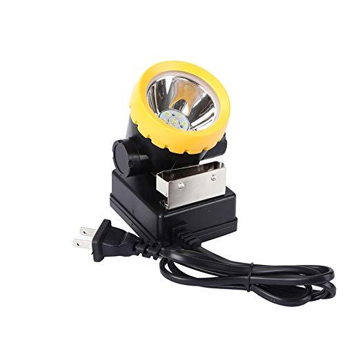Safety Mining Headlamp, Coal Miner Headlight Explosion-Proof Mining Light, Waterproof Lamp BK2000 Rechargeable Led Coal Flashlight for Helmet, Hard Hat, Hunting, Fishing (Black)