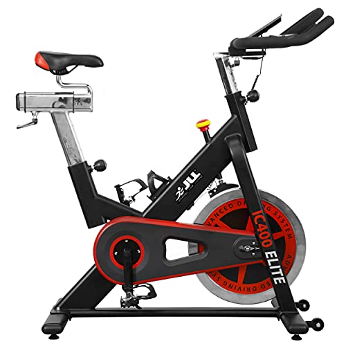 JLL Fitness JLL-IC400 Bicis Fitness, Unisex-Adult, Negro/Rojo