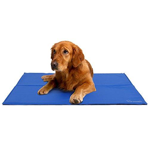 Pecute Tappetino rinfrescante Cani 120 * 75cm - Gel Non tossico - Sistema di Auto Raffreddamento - Perfetto per Cani e Gatti in Estate