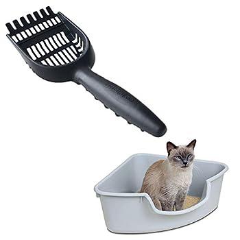 Pelle à Litière Pet Scoop Tamiser pour Animaux de Compagnie Chien Chat en Métal avec Manches et Dent de Râteau pour Animalerie Kitty Chat Chien