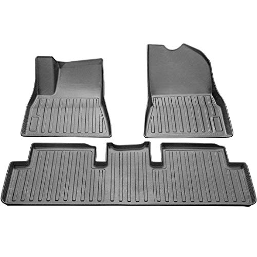 TOPlight Automotive Floor Mats for Tesla Model 3,All Weather Waterproof Heavy Duty 3D Floor mats Tesla Model 3