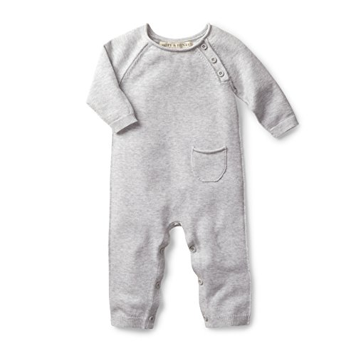 Hope amp Henry Layette Grey Baby Sweater Romper Size 03 Months
