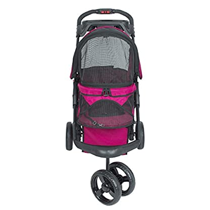 PETIQUE Razzberry Pet Stroller, Razzberry, One Size (ST01100103) 3