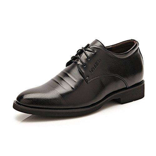 no-branded Zapato Elevador para Hombre 2'Taller con Cordones Mocasín de Cuero Plantilla Desmontable de Altura Creciente Zapatillas de conducción JZJZJEU (Color : Marrón, Size : 6.5 MUS)