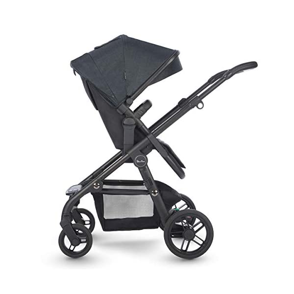 Silver Cross Coast Fully Adjustable 2-In-1 Baby Pram and Pushchair, Newborn to Toddler, With Accessories – Flint Silver Cross Newborn to toddler: Suitable from birth up to 6 months using the carrycot, and from 6 months to 25 kg with the pushchair seat attachment Strong and lightweight: Silver Cross high quality durable magnesium chassis weighs just 10.2kg, perfect for every trip, with 4-way independent wheel suspension and puncture proof tyres Compact: Quick and easy to fold down for transport and storage with a total of 27 clever configurations (Dimensions: L92-112 cm W60 cm H91-107 cm, folded: L94 cm W60 cm H34 cm) 2