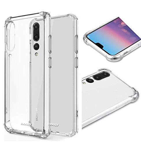 AILZH Handyhülle kompatibel für Huawei P20 pro Hülle Silikon TPU Transparent Klar Schutzhülle Weich Anti-Kratzer Durchsichtige Gel Hülle Anti-Schock Shockproof Cover Stoßfänger Bumper