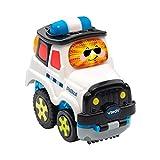 Vtech 80-515704 Tut Tut Baby Flitzer Press & Go Polizei Babyspielzeug, Mehrfarbig