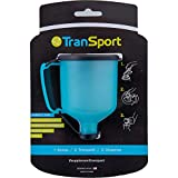 TranSport Protein Powder Funnel - 180mL Portable Protein Powder Container For Gym And Travel, Large Capacity Water Bottle Funnel For Supplements, Holds 2-3 Scoops, Mess Free Supplement Dispenser