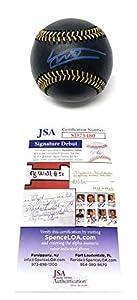 Vladimir Guerrero Jr Toronto Blue Jays Signed Autograph Official Rare BLACK MLB Baseball JSA Rookie Debut Certified