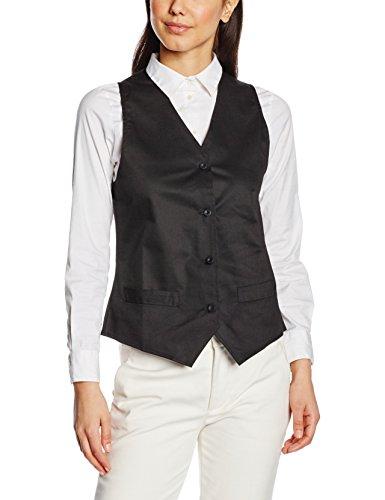 Premier Workwear Damen Ladies Hospitality Waistcoat Anzugweste, Schwarz (Black), Medium