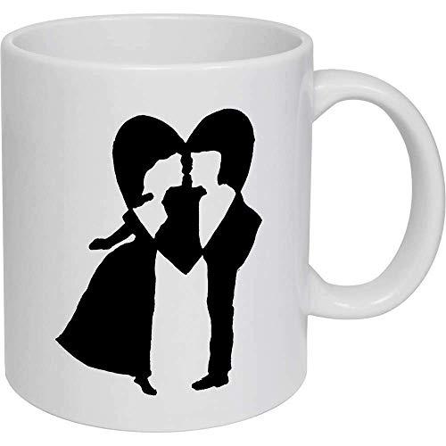 Taza de café, taza de té, taza de té, taza de cerámica con forma de corazón para pareja, regalo para mujeres y hombres