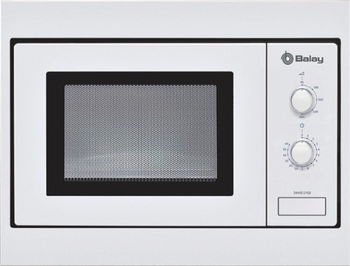 Balay 3WMB1958 3WMB1958-Microondas integrable sin Grill, 18 l, Blanco, 50 x 36 x 32 cm