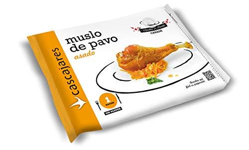 CASCAJARES - Muslos de Pavo cocinado al estilo Cascajares. Listo para calentar en el horno, perfecto para una persona, un muslo por bolsa, 350 gramos. Sin gluten