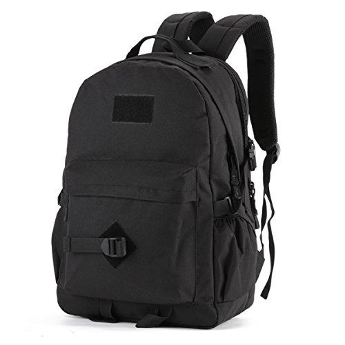 Hiking Backpack 40L Casual Backpack Military Tactical Rucksack Waterproof Assault Pack School Bag for Men Women Camping Laptop Backpack Trekking Backpack Black