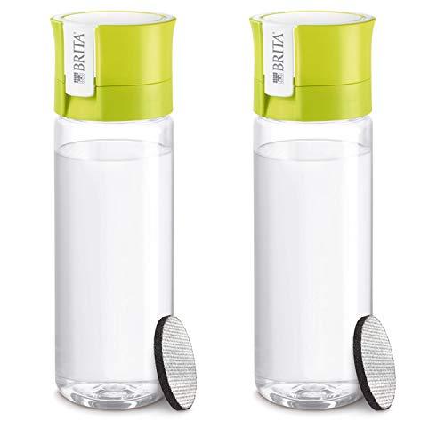ブリタ 水筒 直飲み 600ml 携帯用 浄水器 ボトル 2本セット カートリッジ各 1個付き フィル&ゴー ライム 【日本正規品】