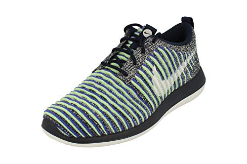 Nike SportswearROSHE Two Flyknit - Sneakers Basse - College Navy/White/Binary Blue/Vapor Green/Paramount Blue
