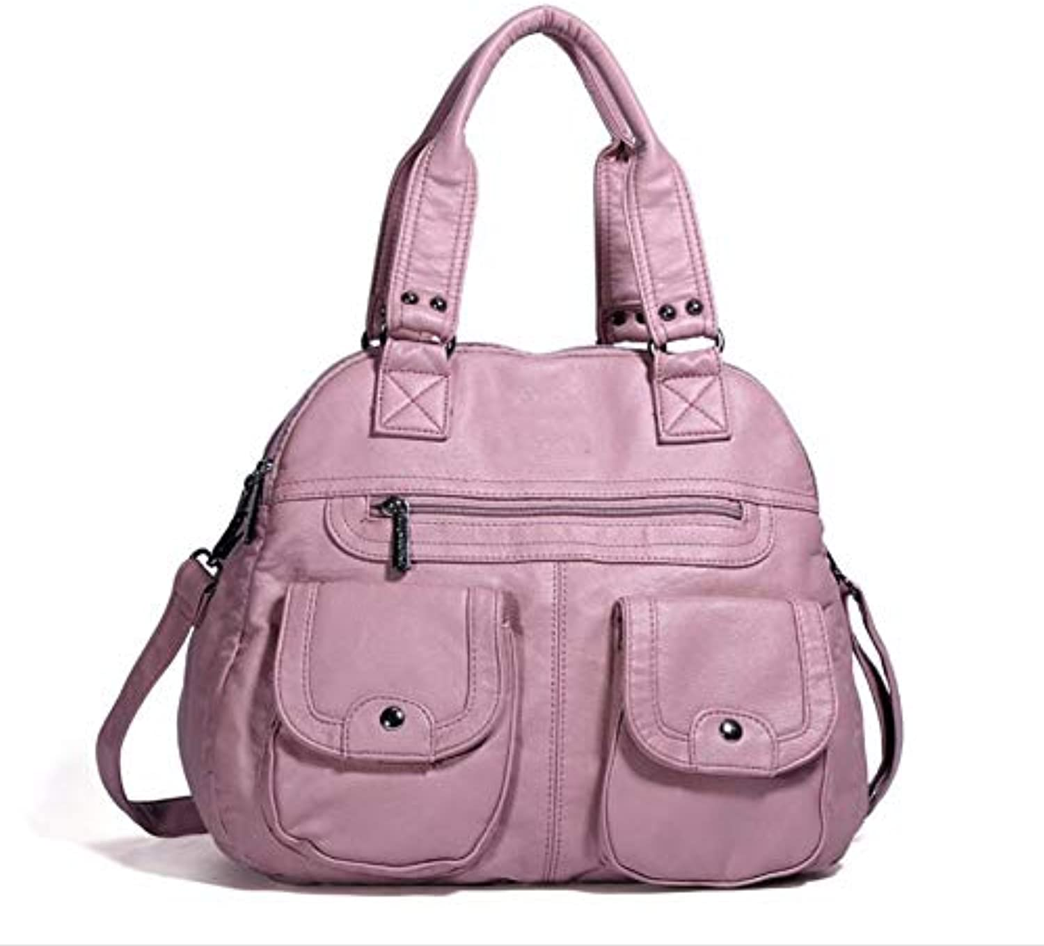 Autumn and Winter Women's Bag Large-Capacity Fashion Women's Single Shoulder Bag Pure-color Fashion Handbag Skew-Straddle Bag