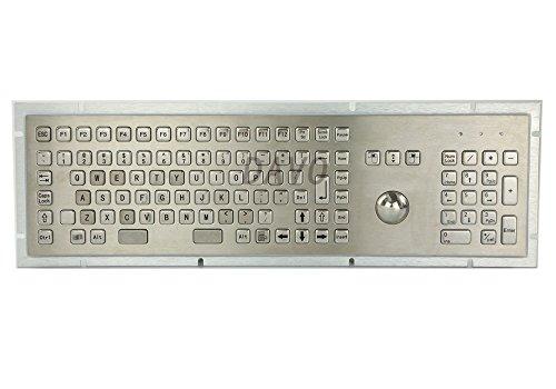 Teclado médico de metal con 103 teclas de grado médico militar marino teclado de Trackball industrial teclado español