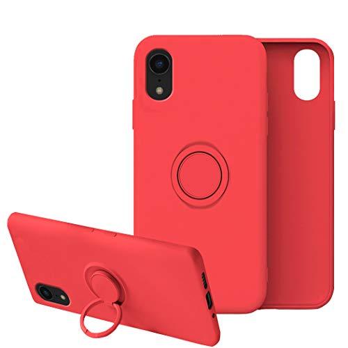 Funda para iPhone XR Apple Case,Fundas iPhone XR Silicona Antigolpes Carcasa Gel de sílice líquido Compatible con Posterior Magnético Iman (iPhone XR, Rojo)