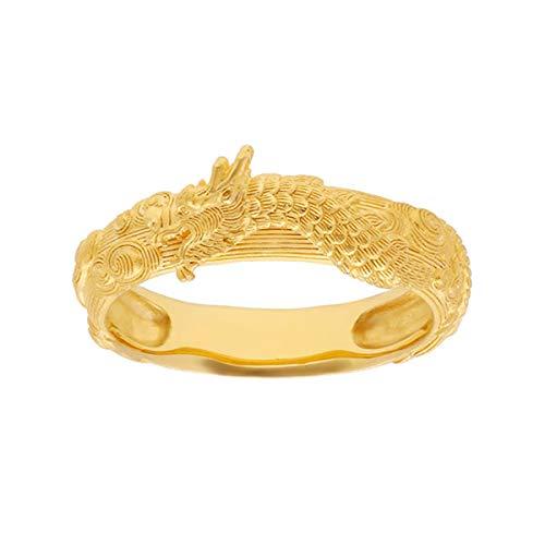 PRIMAGOLD(プリマゴールド) 純金 レディース リング 優雅な龍モチーフ 指輪 K24 24金ジュエリー (12.5)