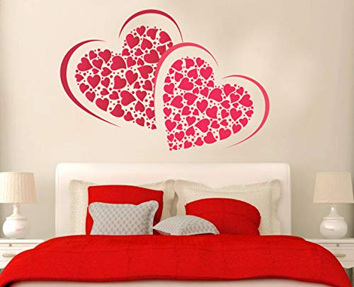Grand Pixels There, Right Inside My Room, My Darling My Soul Bedroom Wall Sticker (PVC Vinyl, 75 cm x 50 cm, Multicolour) II Free of Cost for Delivery II