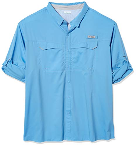 Columbia Camiseta de Manga Larga Drag Offshore para Hombre, Hombre, 1450043, Gorra Blanca, XXL Tall