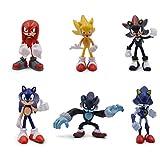 EASTVAPS Juguete 6pcs Sonic The Hedgedog Figure Doll Decoration