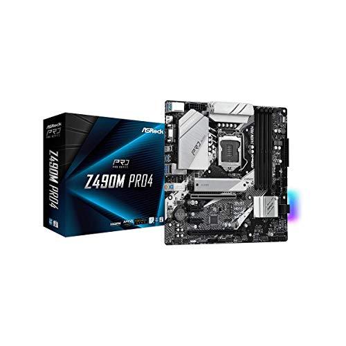ASRock Intel 第10世代CPU(LGA1200)対応 Z490 チップセット搭載 Micro ATXマザーボード 【国内正規代理店品】 Z490M Pro4