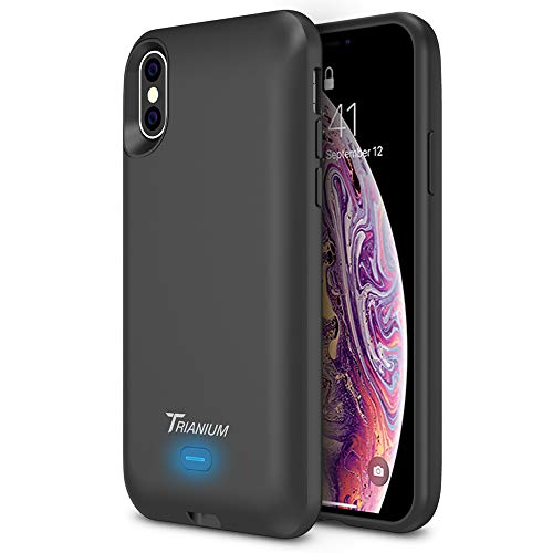 "Trianium Wireless Charge Battery Case Compatible with Apple iPhone Xs/iPhone X (5.8"" Display) 3000mAh Rechargeable Juice Charging Power Extended Power Charger [Not Support Wireless Charging Pad]"
