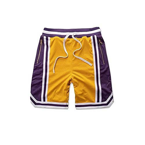 N\P Pantalones cortos deportivos de malla para hombre Fitness Deportes Ocio Fitness Entrenamiento al