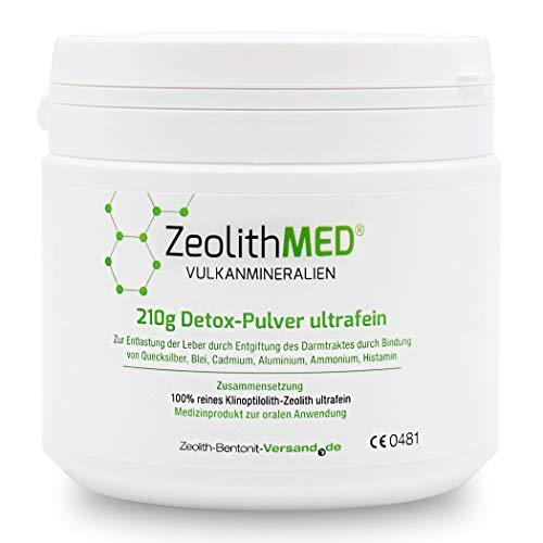 Zeolith MED Detox-Pulver ultrafein 210g, CE zertifiziertes Medizinprodukt