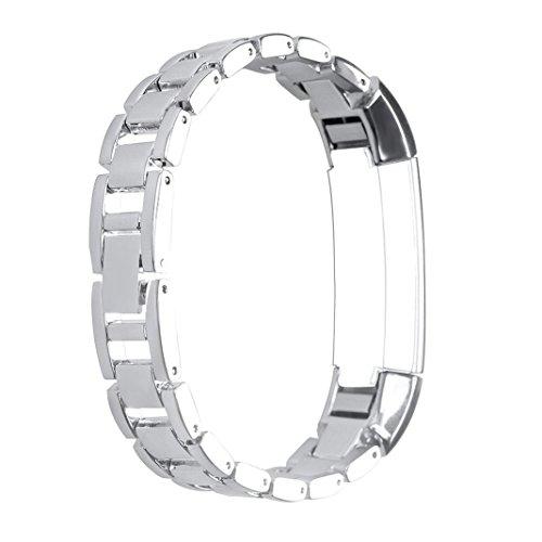 HuaForCity Armband für Fitbit alta hr,Metall Uhrarmband Bands,Ersatz Edelstahl Wristband Strap,Smart Watch Band armbänder Wrist Strap mit Metallschließe und Schnalle Ersatzarmband Replacement