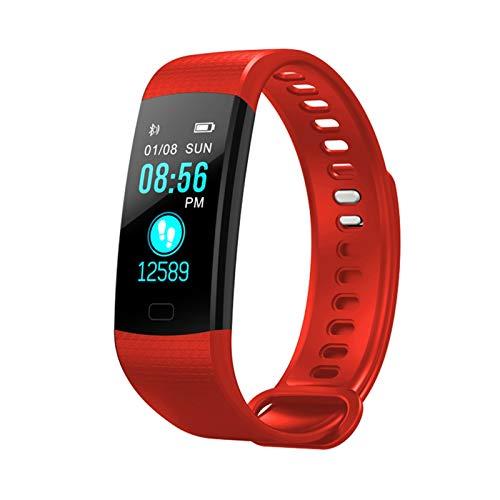 Nuevo FIT bit Sport Band Actividad Actividad Actividad Actividad Fitness Presión Arterial Monitor De Ritmo Cardíaco Smart Activity Watch Podómetro (Color : Red)