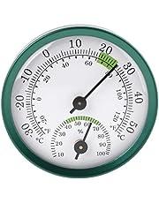 siwetg Termómetro 2 en 1 para interiores, higrómetro, medidor de humedad, medidor de temperatura, medidor mecánico de aleación de aluminio, termómetro e higrómetro con grados Fahrenheit