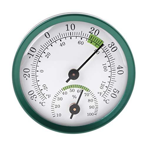 siwetg Termómetro 2 en 1 para interiores higrómetro medidor de temperatura humedad medidor mecánico de aleación de aluminio termómetro e higrómetro con grados Fahrenheit