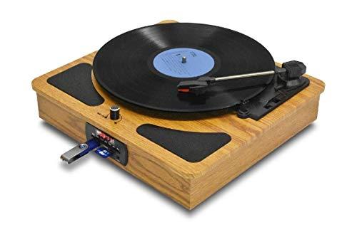 クマザキエイム レコードプレイヤー/ラジオ+メディアレコーダー TRM109W