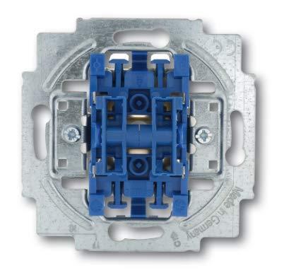 Busch Jäger Reflex SI alpinweiss Steckdosen Schalter Rahmen Wippen (2000/5 US Wippschalter-Einsatz Serienschaltung, 1 Stück)