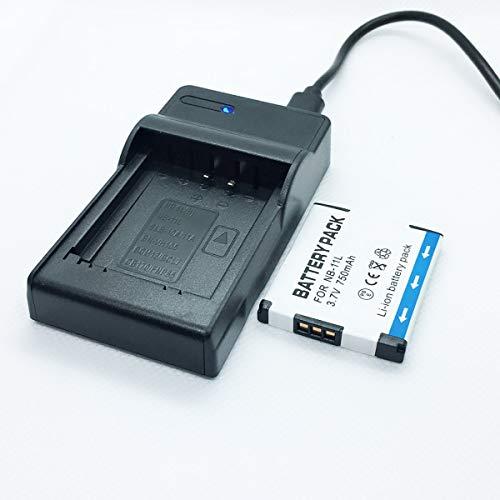 Cámaras Quick Battery Pack y kit de cargador de baterías de viaje rápido USB Reemplazo Compatible con Canon para PowerShot SX400IS, SX410IS, SX420IS Accesorios para cámaras digitales