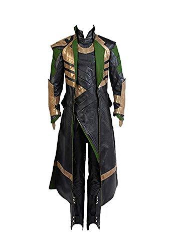 Linen Family Disfraz de Cosplay de Pelicula para Adulto Traje de Loki Uniforme Cosplay de Cuero Conjunto Completo de Traje de Halloween