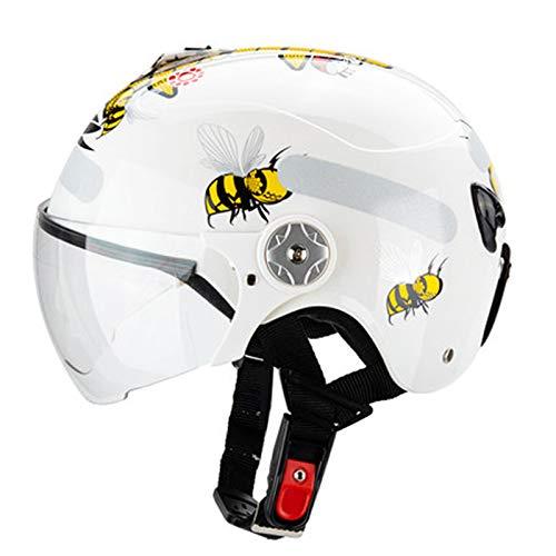 Cascos de motocicleta, cascos de bicicleta, casco de bicicleta de los deportes casco de seguridad resistente al impacto transpirable bicicleta monopatín rueda deslizante casco blanco3-S